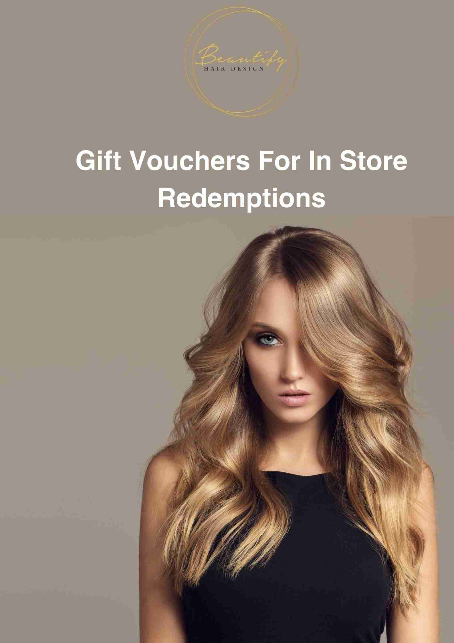 Gift Vouchers For In Store Redemption